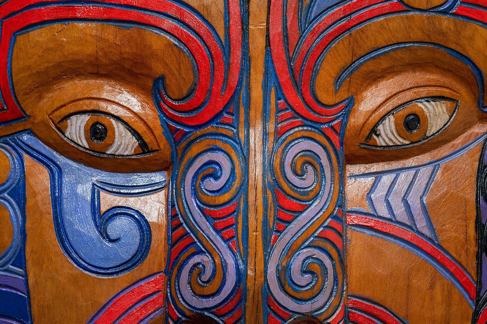 Maori man mask